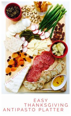Budget-friendly ways to make a beautiful, delicious, and easy Thanksgiving Antipasto Platter.