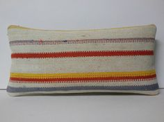 Lumbar Pillow Kilim Pillow Bolster Pillow by KILIMDECOLIC on Etsy, $16.95