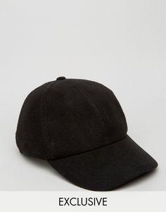 63cae0f2b2c Image 1 of Reclaimed Vintage Baseball Cap In Polar Fleece Black Vintage  Baseball Caps