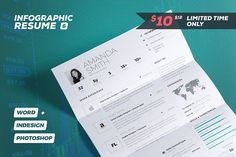 Best Selling Resumes   All in One by The Resume Creator on     Infographic Resume Cv Template Vol 6