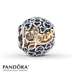 This #Pandora #Love #charm with 14K yellow gold makes a perfect #gift for so many special occasions and ladies.❤️ Jewelry Studio in Bozeman, Montana sells Pandora tax free. www.BozemanJewelry.com