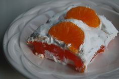 Just Another Day in Paradise: Orange Cloud Jello Salad Dessert Salads, Pie Dessert, Jello Salads, Jello Recipes, Easter Recipes, Salad Recipes, Jello Gelatin, Trifle Pudding, Layered Desserts
