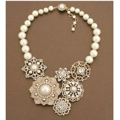 Like little doilies with pearls! Lovely!