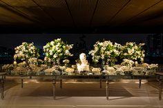 decoração em verde e branco para casamento na Villa Jockey
