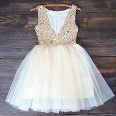 sugar plum gold sequin darling party dress - shophearts - 2