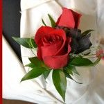 2 Red Rose Pin On #Corsage Price:  $18.98 2 Red roses with green and a black ribbon.