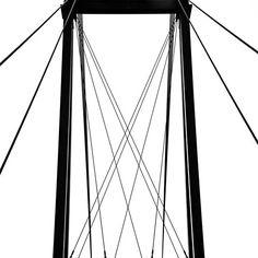 Cable Bridge Abstract #blackandwhite #abstract #bridge #art #photography