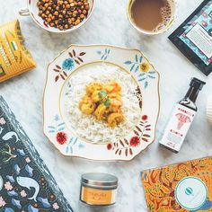 """Try The World took me to India! Not literally but with this month's box, it was pretty close. Their monthly boxes are filled with gourmet food curated by expert chefs 😋 Oh, the Sohan Papdi didn't make it past 5 mins 🤣 If you want to know what it is, head to their website and find out!⠀ ⠀ Use code: """"INBETWEEN"""" to get $20 off when you subscribe. #TryTheWorld #sponsor ⠀"""