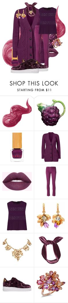 """Casual Grape"" by tgtigerlily ❤ liked on Polyvore featuring Bobbi Brown Cosmetics, Habit Cosmetics, Venus, Armani Jeans, Anna Sui, Lulu in the Sky, NIKE and LE VIAN"