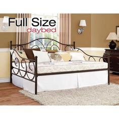 Victoria Full Metal Daybed, Multiple Colors