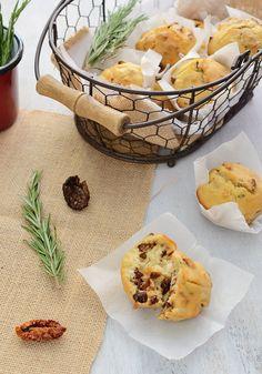 ¡Qué cosa tan dulce!: Muffins de queso de cabra, tomate y romero