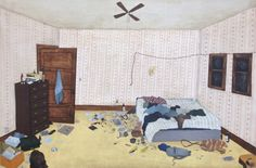 bedroom, 2014, acrylic on panel, 20 x 30 inches