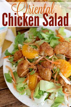 Oriental Chicken Salad - The Country Cook