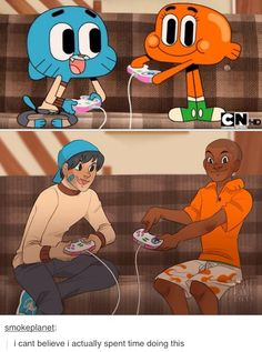 Gumball and Darwin - Seriously that's how imagine them as humans
