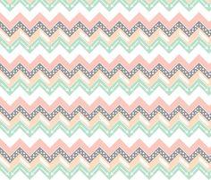 Mint, Blush, Peach, Grey Triangle Arrow Chevron fabric by modfox on Spoonflower - custom fabric Aztec Pattern Wallpaper, Abstract Pattern, Pattern Paper, Fabric Patterns, Print Patterns, Cute Wallpapers, Wallpaper Backgrounds, Homescreen Wallpaper, Paper Scrapbook