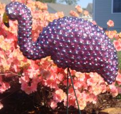 Flamingo In Purple Gems - DIY