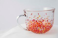 Polka-Dotted Oversized Mugs, handpainted, set of 2 ($25.00)  by JTurcotteDesigns on Etsy