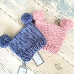Little newborn hats ready to send off to my customer - I wonder if they're for a twins photo shoot?
