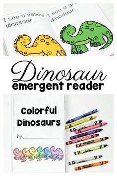 Dinosaur emergent reader free preschool printable #FunADay #freeprintable #dinosaurs #preschool #Preschoolactivities #freebie #Preschoolers #Preschoolmath #literacycenters