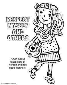 girl scouts respect myself and others print all the pages to make a coloring book
