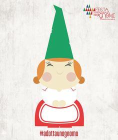 Gnoma Pepita   Una dolcissima signora dalle guance paffute e le mani tonde come panini, porta con sé l'odore delle sue buonissime torte e del sapone che produce in casa. E' la moglie del capo gnomo, è una mamma dolcissima, sempre premurosa con tutti, sferruzza maglioncini e sciarpe ma quando c'è bisogno di essere coraggiosi lei non si tira indietro!  #gnome #festadeglignomi #bambini #gnomi #fantasy #design #abruzzo #teatro