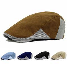 New 2017 Men Women Gorras Planas Beret Boinas Stripes Flat Caps Fashion Hats for Women Men