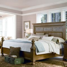 Have to have it. Paula Deen Down Home Aunt Peggys Panel Bed - Oatmeal - $1605 @hayneedle