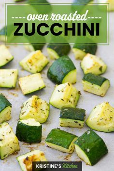 Roasted Zucchini And Squash, Roasted Zucchini Recipes, Zucchini In The Oven, Zucchini Side Dishes, Bake Zucchini, Veggie Recipes, Healthy Recipes, Healthy Meals, Healthy Eating