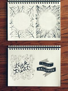 Love the hand drawn ghosts and spider webs ! Wit & Whistle » Blog Archive » Design Process: Halloween 2012