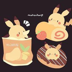 Pikachu kuubies by mahoukarp Cute Kawaii Drawings, Cute Animal Drawings, Kawaii Art, Pikachu Drawing, Easy Disney Drawings, Cute Kawaii Animals, Cute Pokemon, Pokemon Stuff, Creature Drawings
