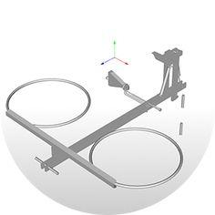 The hydro-pneumatic ceiling bike rack to park your bike flat to the garage ceiling. A new easy automatic bike storage system to lift bicycles flat overhead. / Потолочный гидропневматический кронштейн для хранения велосипеда. Схема 4.