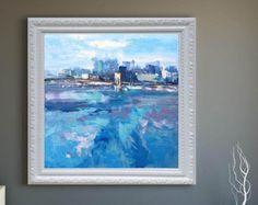 Sunset pittura Seascape pittura astratta arte olio pittura