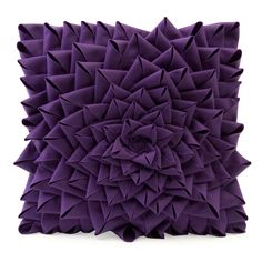 felt rose pillow