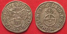 1680 Deutscher Orden TEUTONIC ORDER 3 Kreuzer 1680 JOHANN CASPAR II von AMPRINGEN silver VF-XF# 83145 VF-EF