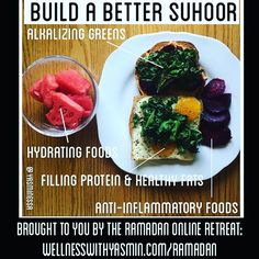 #throwback to this very popular infographic I made last year. This should help you build a more balanced suhoor. Feel free to sub things in and out based on the labels. Only a few more days until Ramadan inshaAllah. May we all be fortunate enough to meet this year's blessed month inshaAllah (Godwilling). #Ramadan #healthyramadan #energizedramadan #suhoor #sehri #foodie #healthy #nutrition #alhamdulilah #provisions #wellnesswithyasmin #balanced #islam #fithijabi #fitmuslima #fitmuslim…