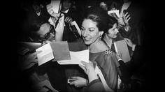 Maria Callas wearing her Van Cleef & Arpels' Flower clip