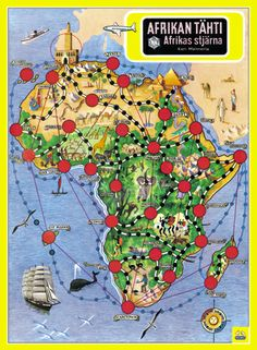 "Afrikan tähti (Finnish), meaning ""the star of Africa"", is a Finnish board game designed by Kari Mannerla originally in"