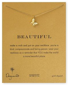 Dogeared 14K Gold Dipped Butterfly Necklace, 16 | Bloomingdales