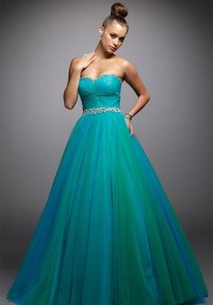ball gown, blue, evening dress, fashion, prom dress, strapless ...