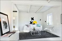 A splash of yellow in a Skåne home