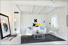 Un toque de color amarillo en una casa de Skåne