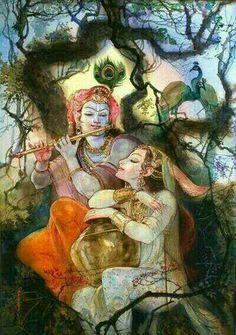 Radharani and Krishna Krishna Leela, Radha Krishna Photo, Radha Krishna Love, Shree Krishna, Radhe Krishna, Lord Krishna, Shiva, Radha Rani, Hanuman