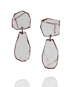 Amy Tavern - earrings ,untitled, sterling silver, spary paint - 2009