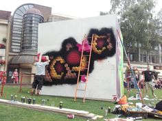 #Snub23 an artist from #Brighton working on his #Streetart creation at #Hypefest #Gloucester.