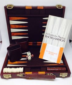 Hey, I found this really awesome Etsy listing at https://www.etsy.com/listing/485793639/vintage-backgammon-game-and-case-brown
