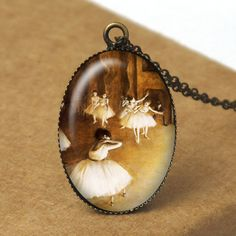 Ballerina Pendant Necklace, Dancer Jewelry, Edgar Degas Jewelry, Ballerina Jewelry, Dancer Necklace, Ballet Jewelry, Resin Jewelry N669. $8.00, via Etsy.
