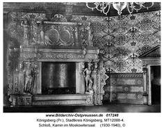 Königsberg, Schloß, Kamin im Moskowitersaal - 1930-40