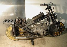 """Image detail for -Motorcycle #1"""" Found Object Metal Art Sculpture by sculptor Bruce ..."""