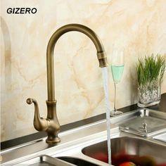Kitchen Flexible Faucet Antique Retro Swivel Kitchen Faucet Vanity Faucet classic hot&cold water tap ZR128