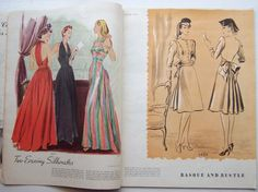 McCalls Pattern Book - 1939 featuring McCall 3471 (evening dress) and McCall 3492 a Two-Piece dress